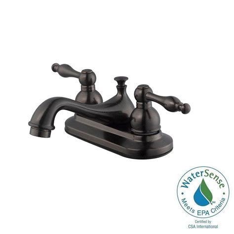 design house saratoga 4 in centerset 2 handle bathroom faucet in brushed bronze 546093 the