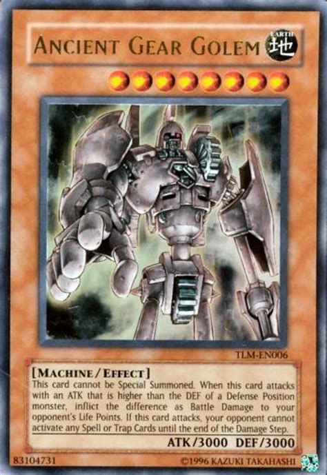 yu gi oh the lost millennium single ancient gear golem