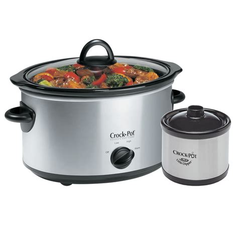 crock pot 174 5qt oval manual cooker with dipper 174 food warmer stainless scv503ss cn