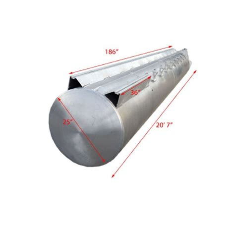 Pontoon Boat Tubes by Custom 21 Foot X 25 Inch Aluminum Pontoon Boat Float Log