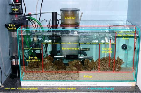 bac de d 233 cantation avec refuge incorpor 233 aquarium r 233 cifal aquarium marin aquarium eau de mer