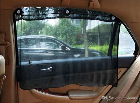 Black Car Sun Shade Side Nylon Mesh Window Curtain Foldable Sunshade Uv Protection Diy Making Concealed Tab Top Curtains Black And Gray Striped Red White Living Room Shower Curtain Rail Hooks How To Hang With On Rings Wooden Rods Nz Indian Beaded Door Western Canada