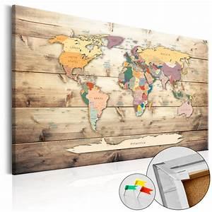 Ideen Für Pinnwand : pinnwand weltkarte wandbilder landkarte leinwand bilder xxl kork k b 0009 p b ebay ~ Markanthonyermac.com Haus und Dekorationen