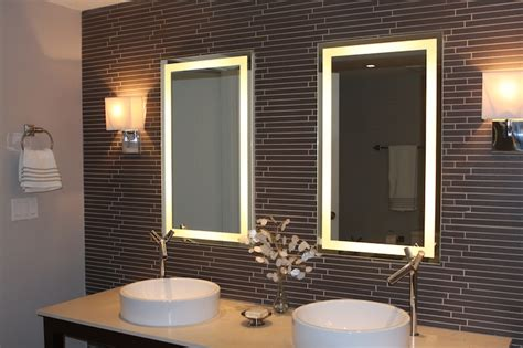 lighted mirrors for bathrooms house lighting