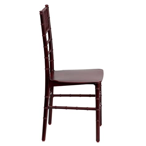 envychair resin chiavari chair mahogany