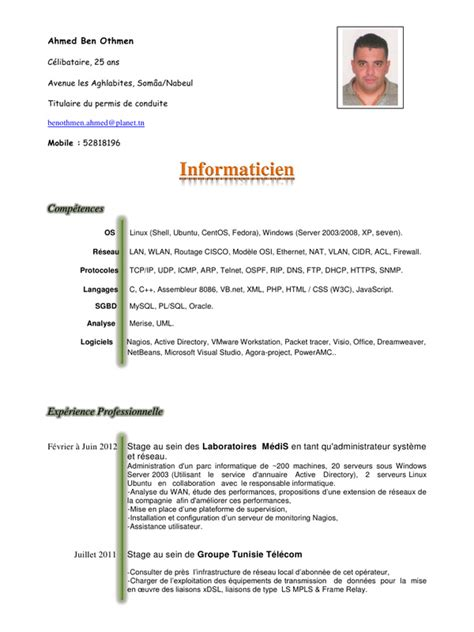 exemple cv allemand cv anonyme