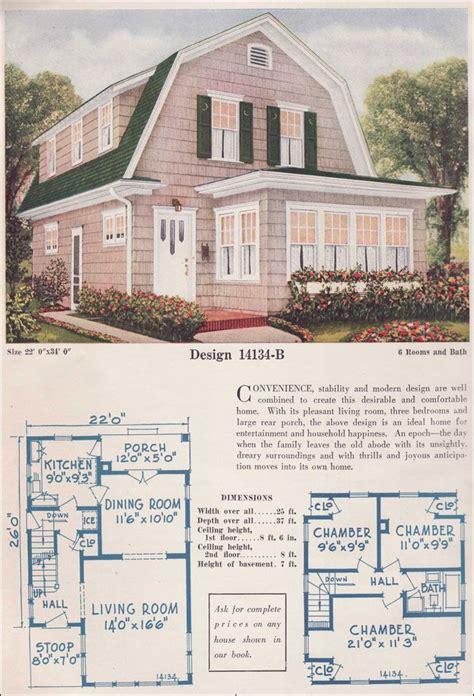 inspiring vintage house plans photo gambrel roof home inspiration