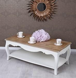 Beistelltisch Landhausstil Weiß : rustikaler couchtisch landhausstil shabby vintage weiss ebay ~ Markanthonyermac.com Haus und Dekorationen