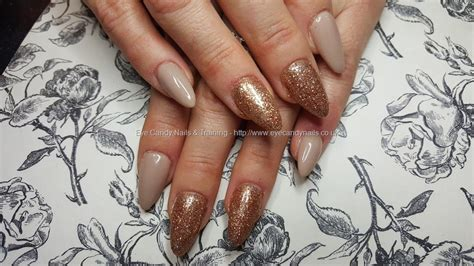 Acrylic Nails With Rose Gold