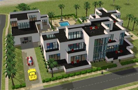 l ext 233 rieur maison moderne de beverly hill sims 2