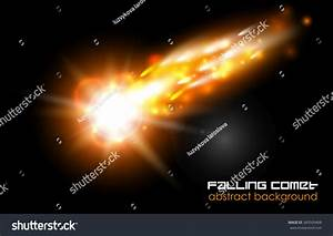 Comet Fireball Meteor Glow Abstract Background Stock ...