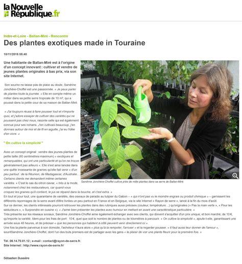 Serre Interview by La Presse Parle De Nous Rayon De Serre