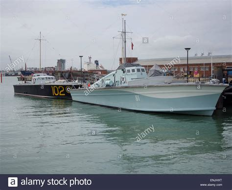 Dog Motor Boat by Motor Torpedo Boat 102 And Motor Gun Boat 81 At Portsmouth