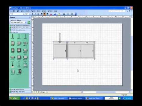 how to use fp2 visio shape front elevation view