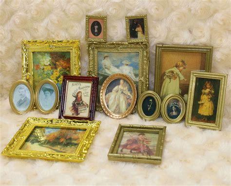 Ebay Home Decor : 12 Dollhouse Miniature Framed Wall Painting Home Decor