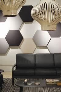 Wandverkleidung Mit Stoff : akustikplatten in hexagon form mit stoff gepolstert partten texture pinterest akustik ~ Markanthonyermac.com Haus und Dekorationen