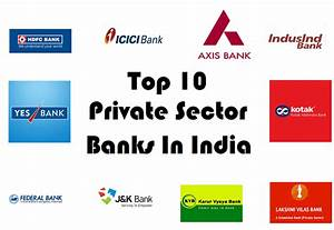 Top 10 Highly Favoured Private Sector Banks in India