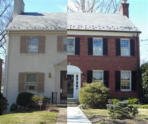 Exterior Painted Brick Houses Great With Photo Of Exterior