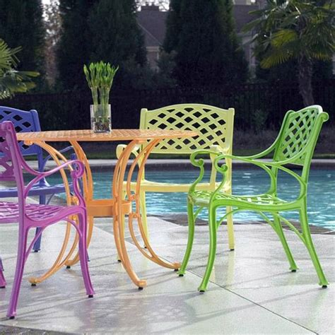 Paint For Wrought Iron Garden Furniture cross weave patio bistro set bright patio furniture that