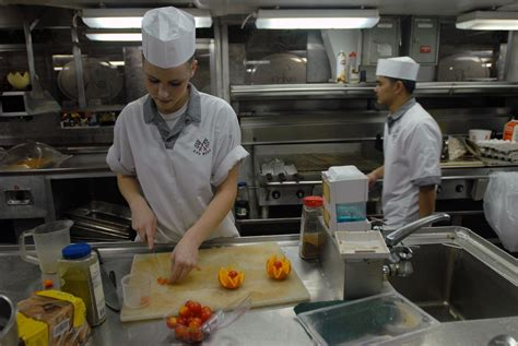 Stock Photography Image Of Navy Cooks Preparing Food For