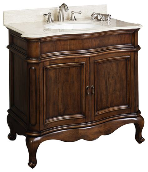 traditional birch veneer vanity base only distressed antique cherry 36 quot x21 quot traditional