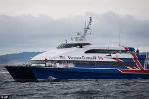 Ferry Boat From Seattle To Victoria by Seattle Police Calls In The Bomb Squad After Man Takes A