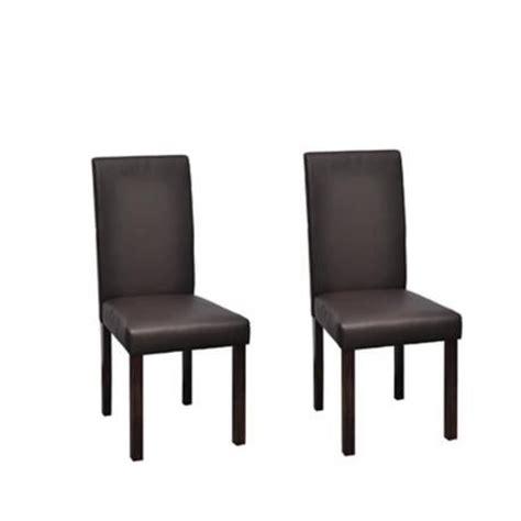 chaise design classique marron lot de 2 achat vente chaise salle a manger pas cher couleur
