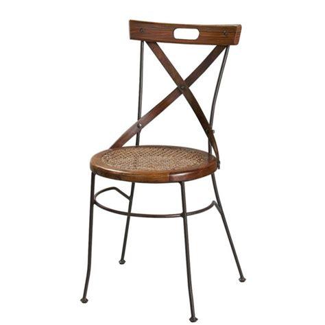 chaise crois 233 e en bois de sheesham et fer forg 233 luberon maisons du monde