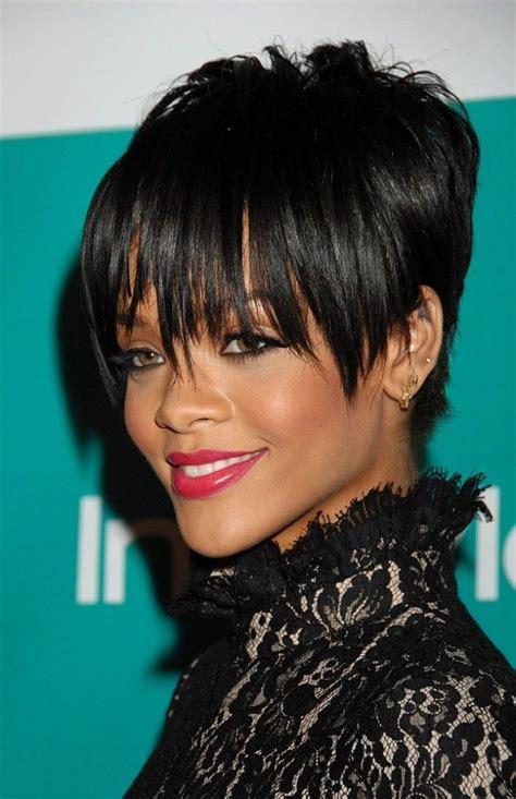 coupe de cheveux courte de rihanna en 2008 beautiful black beaut 233