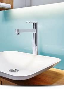 Waschbecken Arbeitsplatte Bad : glasr ckwand waschbecken abdeckung ablauf dusche ~ Markanthonyermac.com Haus und Dekorationen