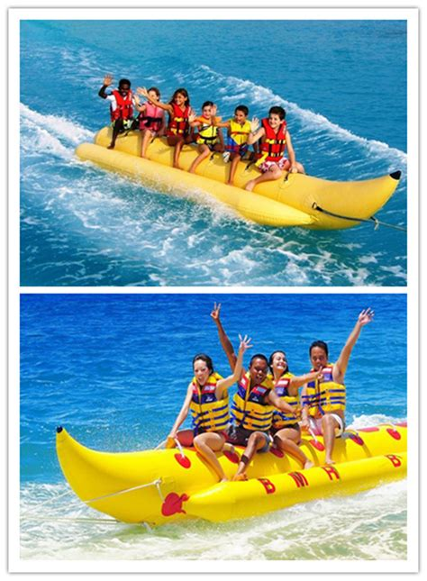 Blow Up Banana Boat by Fun Inflatable Pool Toys Singal Row Banana Boat Fly Fish