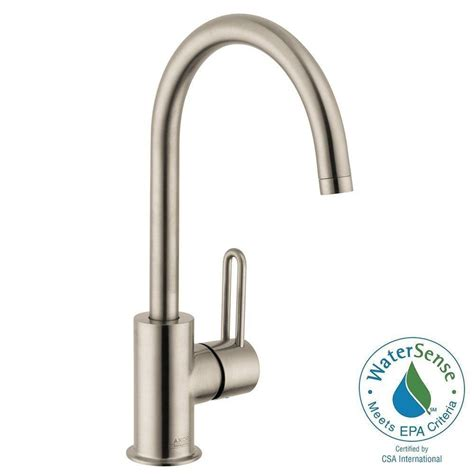 hansgrohe uno single 1 handle high arc bathroom faucet in brushed nickel 38030821 the