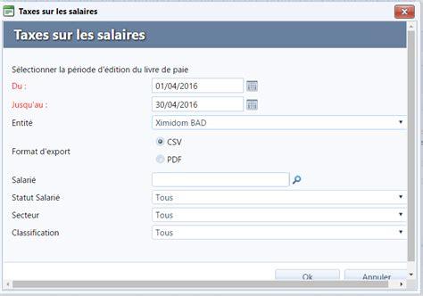 ximi aide en ligne la taxe sur les salaires