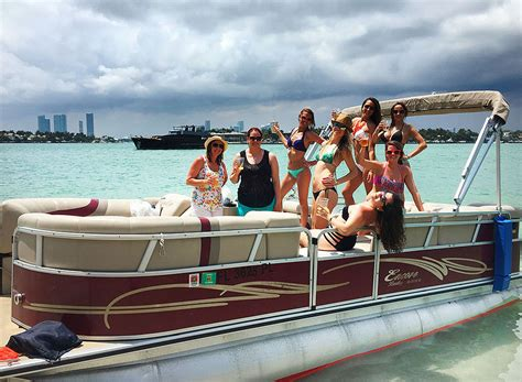 Party Boat Miami Rental miami boat rentals pontoon party boats for rent