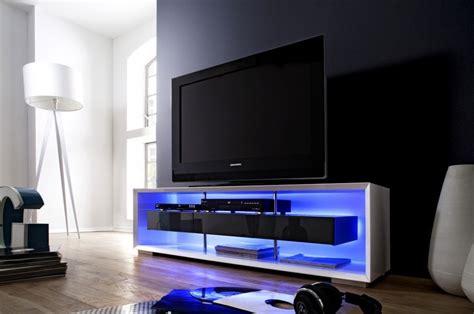 meuble tv blanc laque avec led pas cher id 233 es de d 233 coration et de mobilier pour la conception