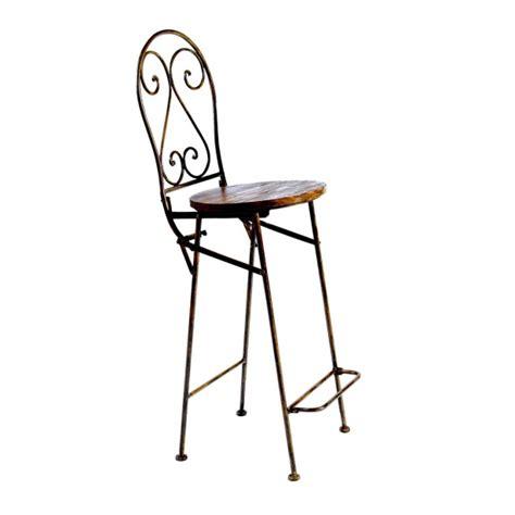 chaise haute bar bois et fer forg 233 jeanne pier import