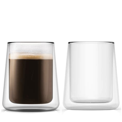 DOUBLEWALL GLASS CUPS  85 Ounces, Set of 2
