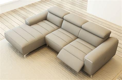 canap 233 d angle fonction relax en cuir italien 5 places serenity gris clair mobilier priv 233