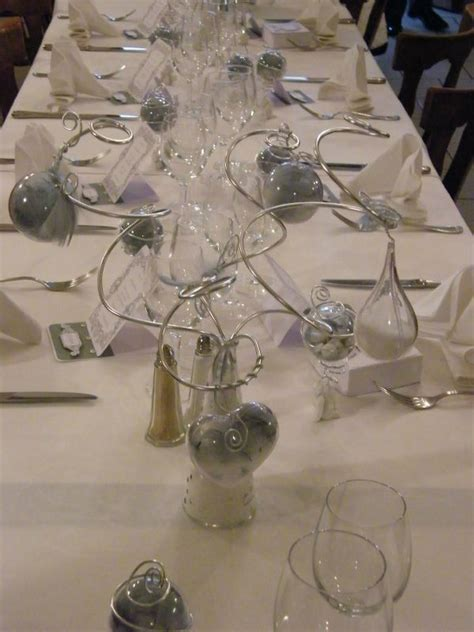 table mariage th 232 me ange blanc et gris photo de d 233 co de table les passions scrap et d 233 co