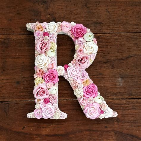 Wall Flowers Decor by Floral Letters