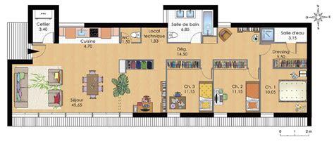 plan de maison moderne de plain pied plans maisons