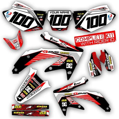 2005 2007 honda crf 450 r dirt bike graphics kit crf450r deco mx moto decals ebay