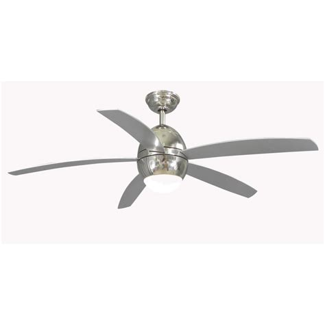shop allen roth 52 in secor polished nickel ceiling fan with light kit and remote energy