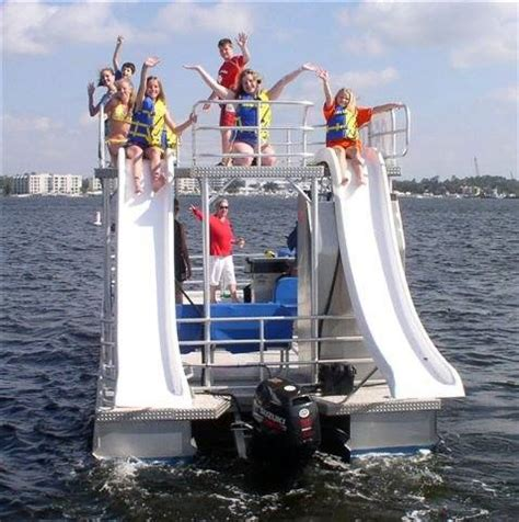 Pontoon Party Boat With Slide by Pontoon Boats With Slides Destin Vacation Boat Rentals