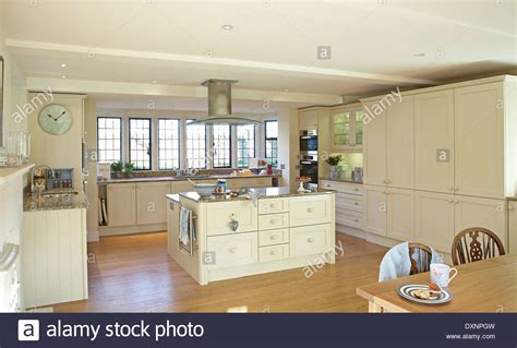A Large Modern Cream Country Kitchen In A Home In The Uk