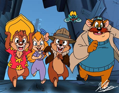 chip n dale rescue rangers by neoyurin on deviantart