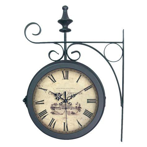 horloge de gare en m 233 tal noir 27x38cm station emde port offert