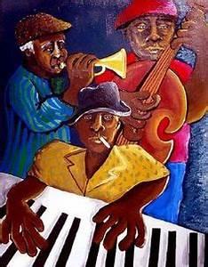 Abstract Jazz Musicians Trumpet Bass African American ...
