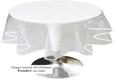 nappe ronde transparente diametre 160 table de lit