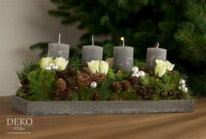 Adventskranz Rot Selber Machen : weihnachtsdeko basteln adventskranz im naturlook deko kitchen ~ Markanthonyermac.com Haus und Dekorationen